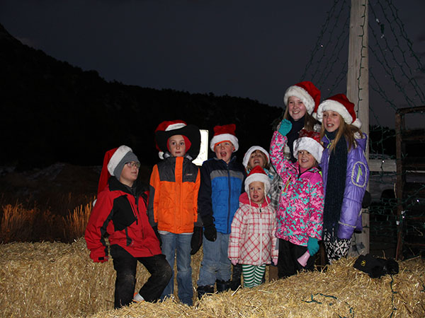 High Country Bank kiddos enjoying the Buena Vista Parade of Lights