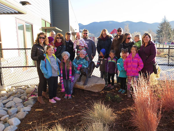 HCB Families surround the Longfellow Mountain Lion