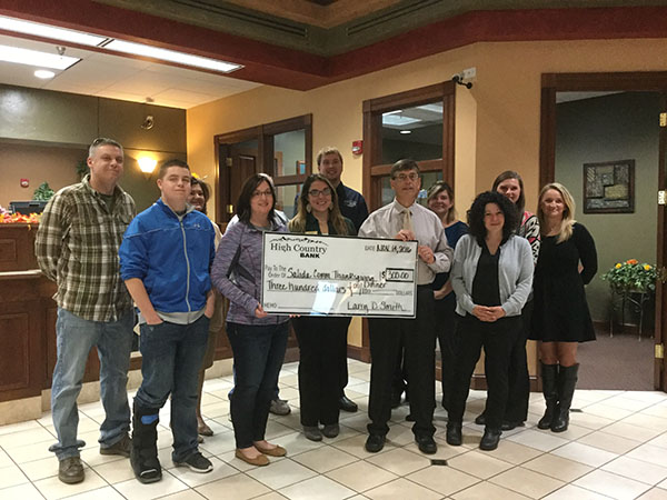 High Country donates to Thanksgiving dinner